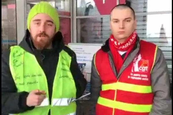 Gilets jaunes / syndicats ensemble ✊